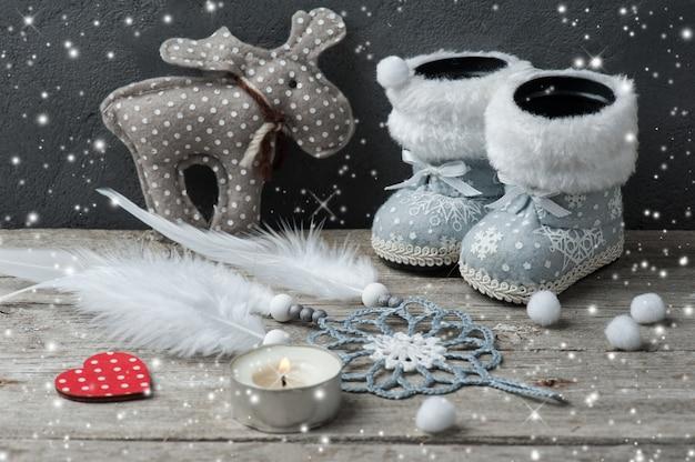 シルバーのクリスマスデコレーション