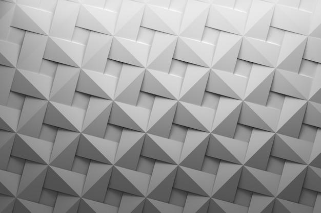 織りに似た平らな形状を繰り返す白灰色のパターン