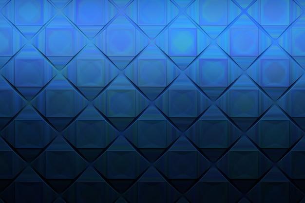 正方形の暗い青の擬似金属パターン