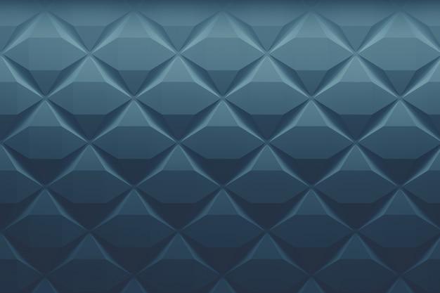 色あせたクラシックブルーの低ポリゴエメトリックパターン