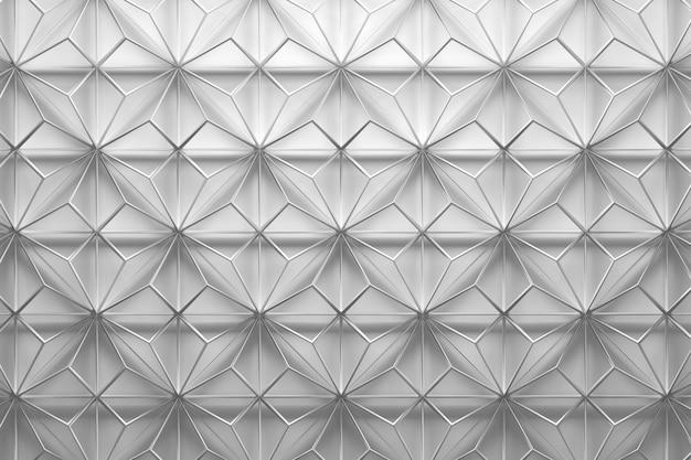 三角形の白いワイヤフレームパターン