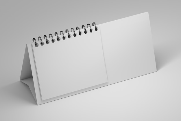 白のスパイラルペーパーシートホルダー付きのオフィステーブル白紙スタンド