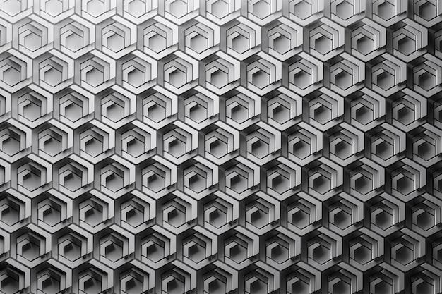Повторяющиеся структуры, рисунок с тонкими высокоструктурированными шестиугольниками. затененный сотовый рисунок.