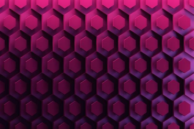 濃い青から紫色の六角形の光沢のある繰り返し図形の背景