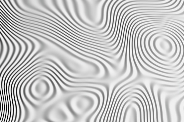 表面に波状パターンの背景。白と黒の液体流れるライン。