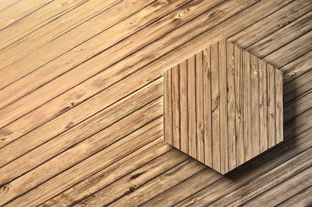 木製の六角形