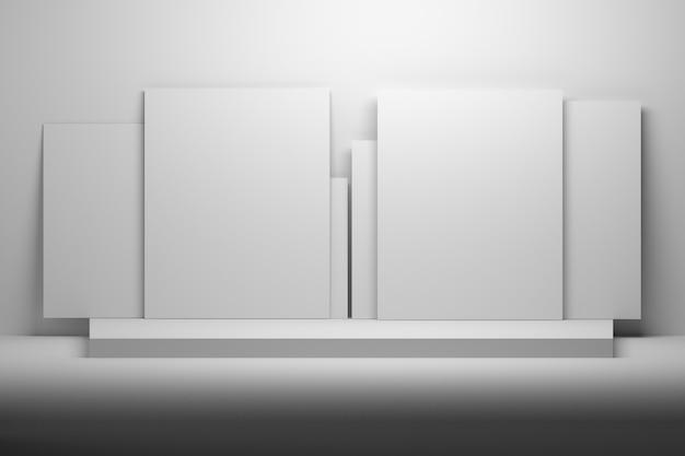 プレゼンテーション用の白いテンプレートはモックアップします。