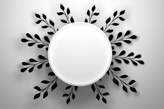 プレゼンテーションは表彰台の台座と黒い花の葉の装飾でモックアップ
