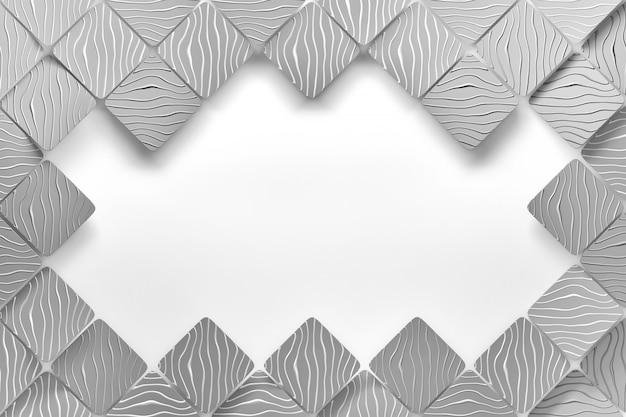 灰色のタイルと白い背景の空白をコピー