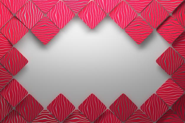 赤いタイルとコピーの空白の背景