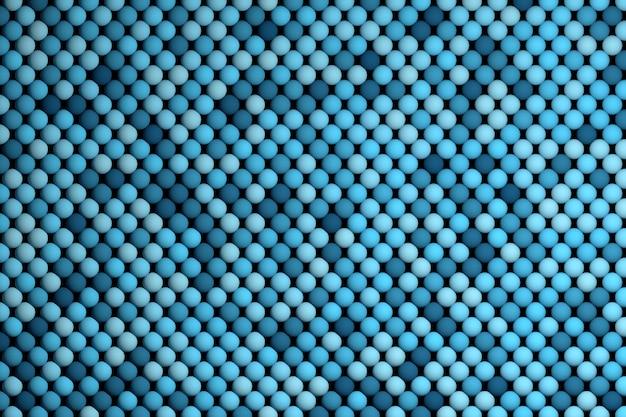 青いボールの繰り返しと抽象的な背景