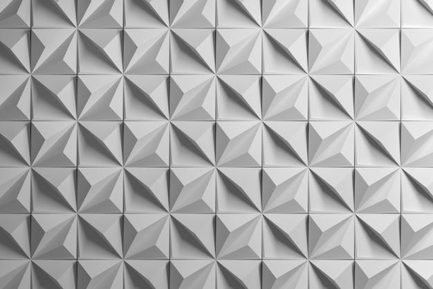 ピラミッドを持つ幾何学的な多面体パターン