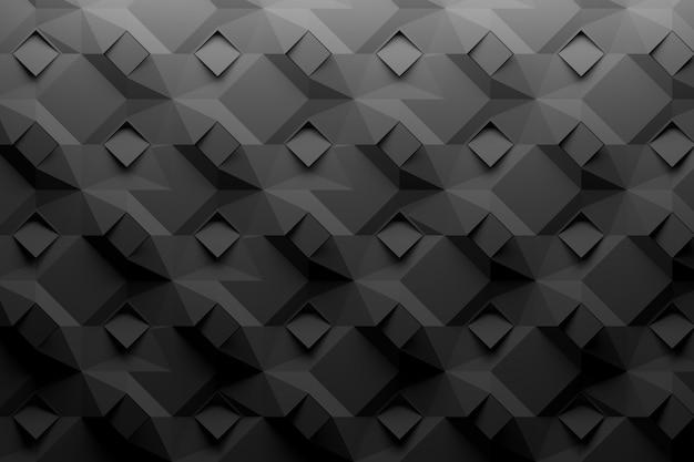 ひし形の幾何学模様黒
