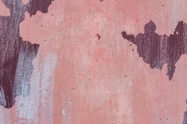 抽象的なグランジピンク塗装コンクリート背景テクスチャ。古いスタイルのヴィンテージの壁