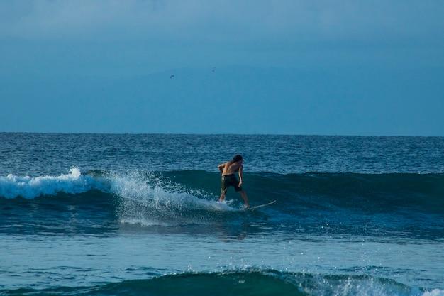 美しい夏のビーチサーフィンビュー