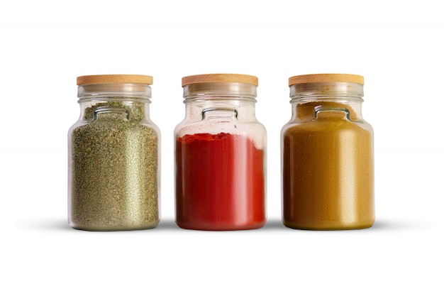 キッチンデザイン、香辛料の貯蔵タンク。