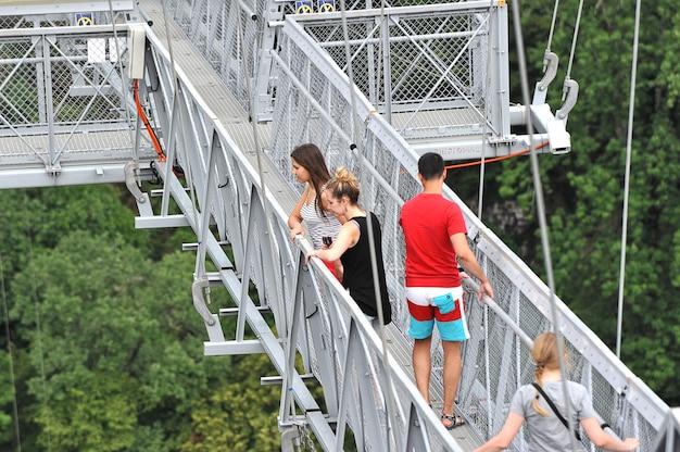 世界最長の吊り歩道橋