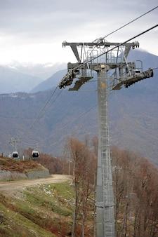 ソチクラスナヤポリヤナのスキー場のリフト