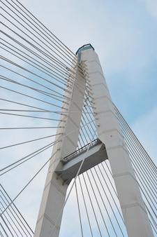 Большой обуховский мост (вантовый) через неву, санкт-петербург, россия
