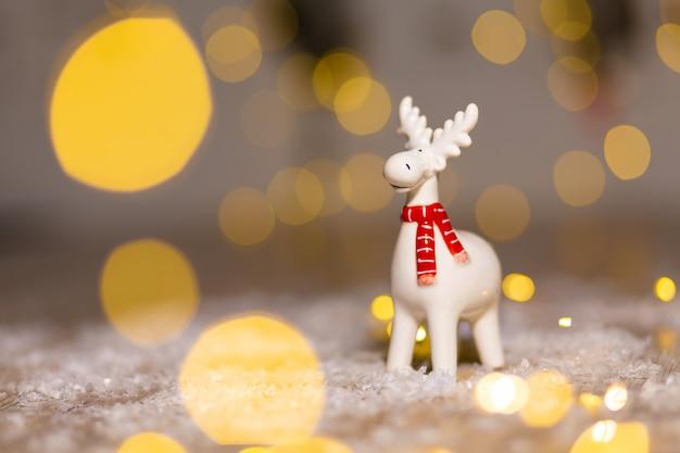 Декоративные рождественские тематические статуэтки, рождественский олень, елочные украшения,