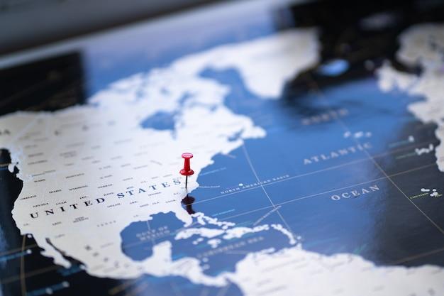 世界地図上のポイントの場所。
