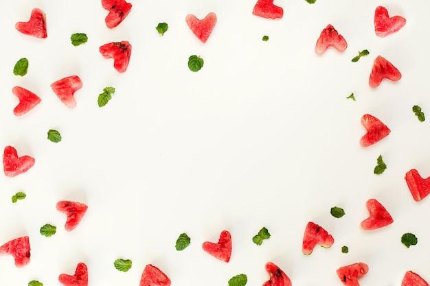 Текстура сердца арбуз