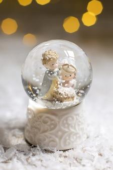 装飾クリスマスの置物。