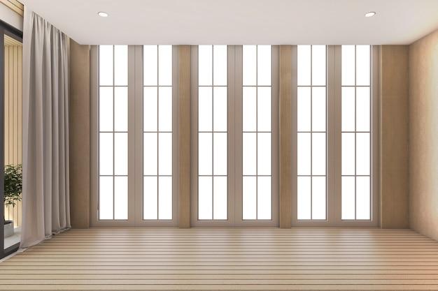 窓からの日光と空の部屋