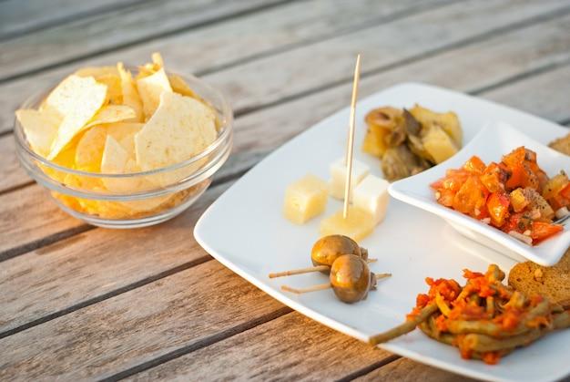 イタリアの前菜ハッピーアワー