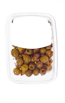 プラスチックボックス表面のオリーブ