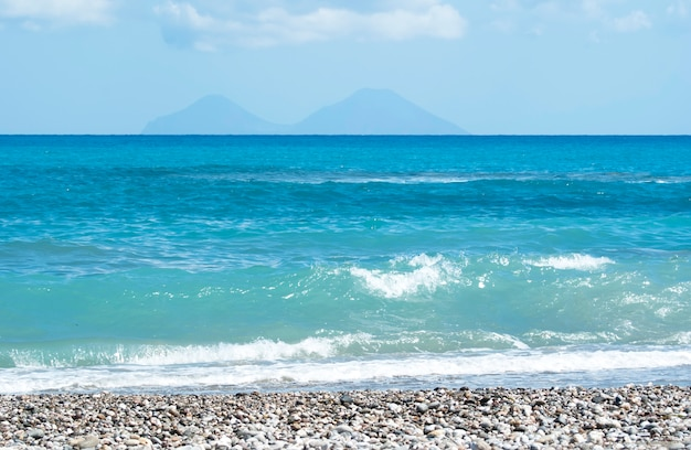Пляж броло, мессина, сицилия