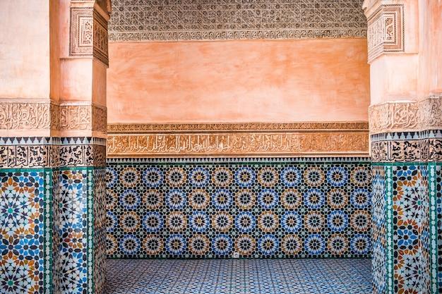 モロッコの壁の装飾