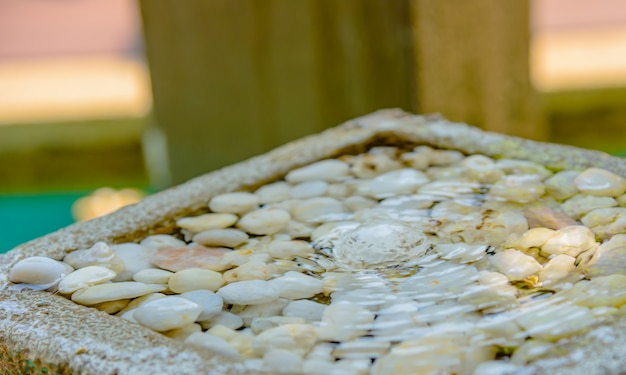 小さな噴水の美しい装飾裏庭で