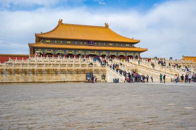 北京、中国での最高の調和の殿堂の紫禁城北京ビュー