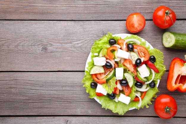 野菜と新鮮なギリシャ風サラダ