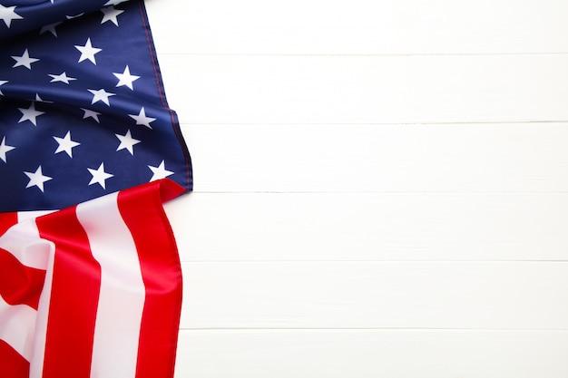 コピースペースを持つアメリカの国旗