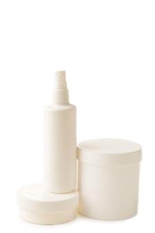 別の白い化粧品ボトル