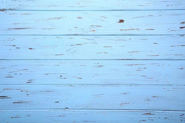 Синий деревянный фон или текстура древесины, деревянная доска
