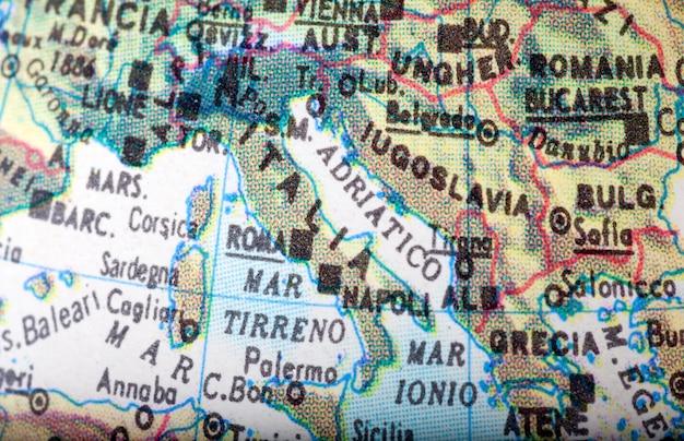 地図イタリア