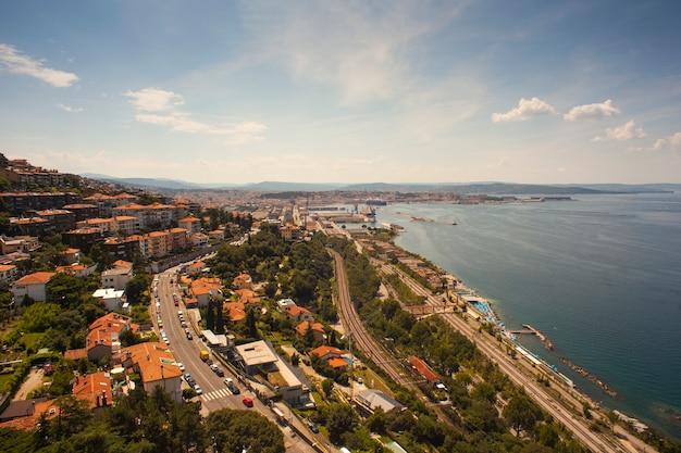 トリエステの港の平面図