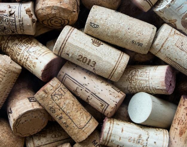 中古ワインのコルク栓