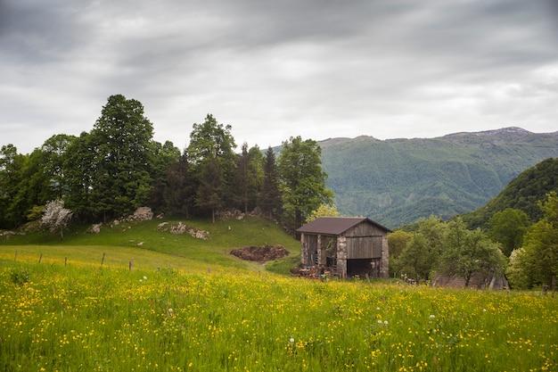 典型的なスロベニアンファームハウス