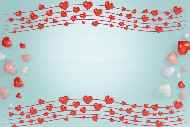 モックアップ用の大きなテディベアとギフトボックステーマの空白のフレーム。幸せなバレンタインと記念日。