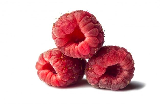 Красная малина крупным планом