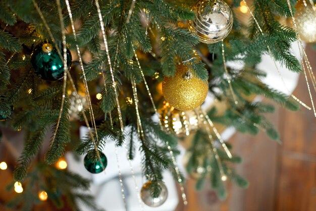 クリスマスツリーの枝ボール装飾新年ボケライト