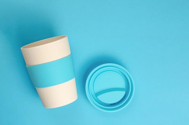 Многоразовая бамбуковая кофейная чашка с силиконовым держателем