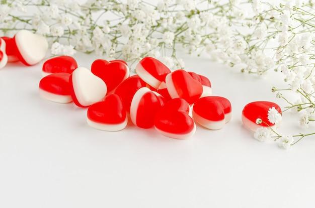 Желейные жевательные конфеты в форме сердца