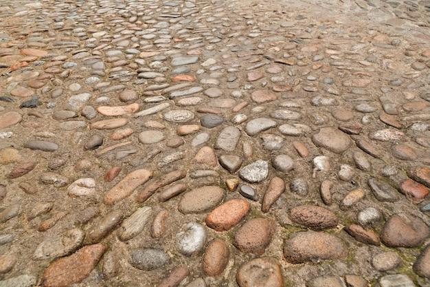石の舗装の質感。