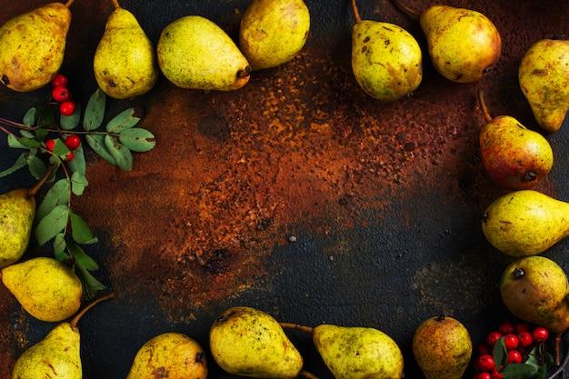 熟した梨のフレーム