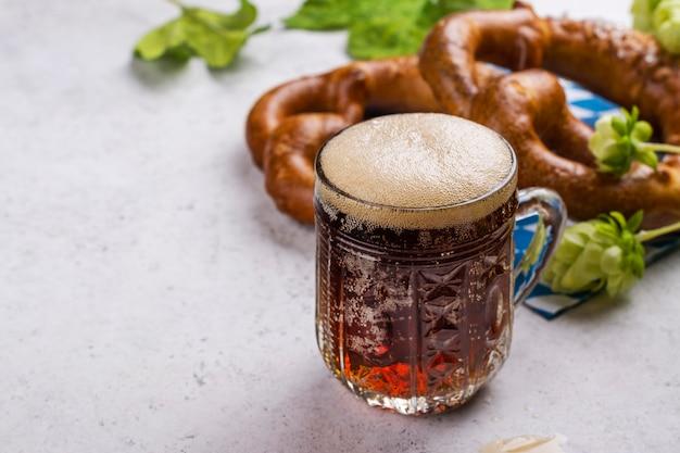 プレッツェルとビール